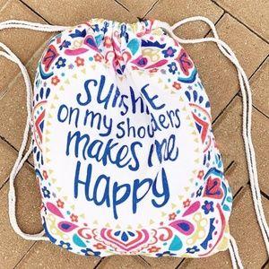 Accessories - Sunshine On My Shoulder Towel converts to beachbag